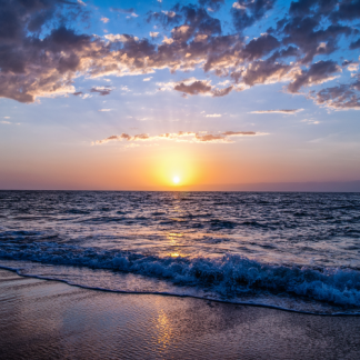 Wanddoek-Sunset-Beach