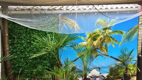 wanddoek-palmtree